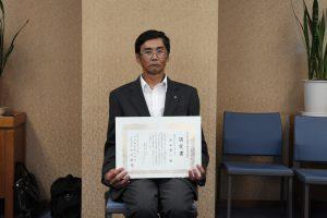 木内建設株式会社様より、中西康一 が優良職長に認定されました